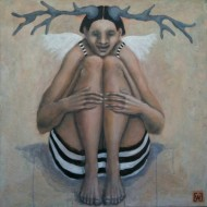 Earth born Angel 100 x 100 cm